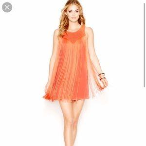 Coral Fringe Guess Dress